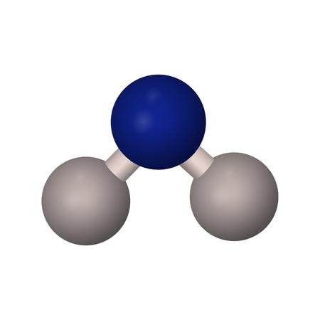 水の分子式。H2O のベクトル図です。抽象的な原子モデル。
