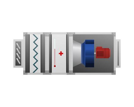 Ilustración de vector de controlador de aire. El dispositivo para la comodidad. Foto de archivo - 91183579