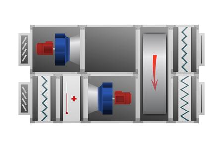 Illustratie van de ventilatie-installatie. Stock Illustratie