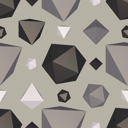 Abstract backdrop with polygon. Vector illustration. Ilustração