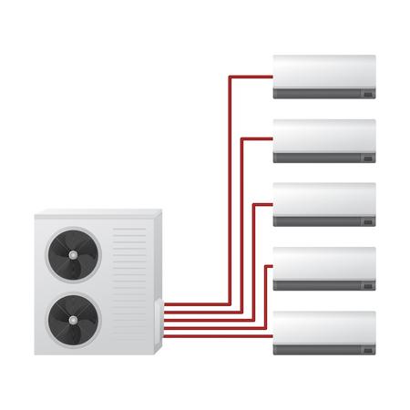 Air conditioning system vector illustration.