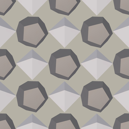 3D modern seamless pattern background. Vector illustration. Ilustração