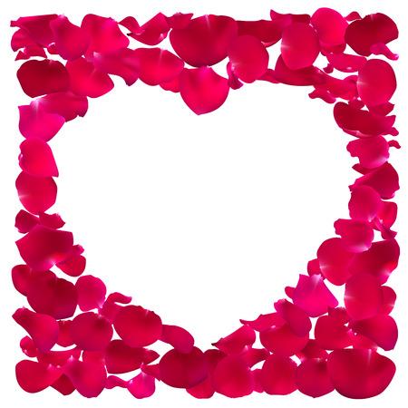 Pink Heart shape frame.