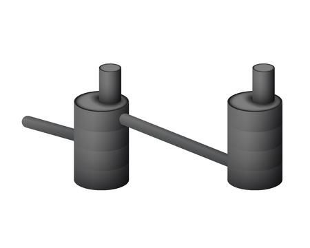 Two underground septic tank vector illustration.