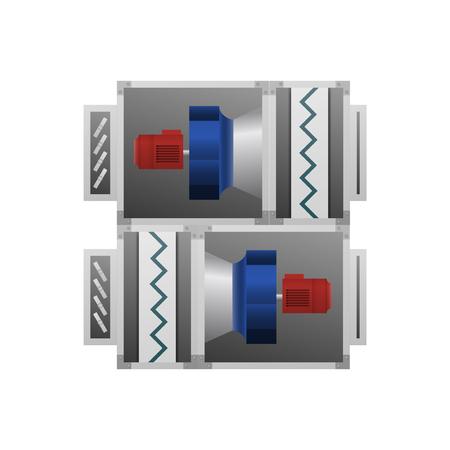 Ventilating fan installation vector illustration