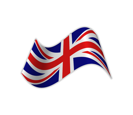 The UK Flag. Vector illustration of the country great britain. United kingdom. Illustration