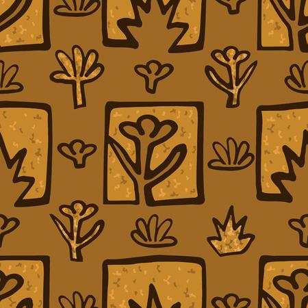 Abstract plants illustration design Illusztráció
