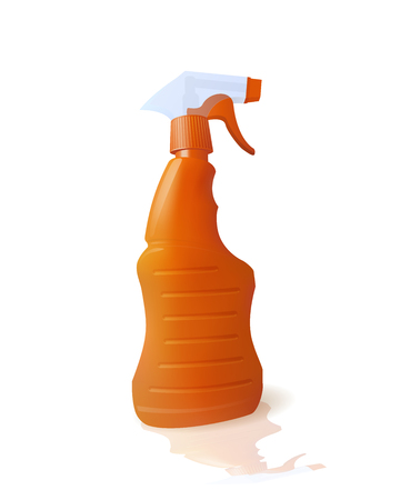 Bottle with chemical cleaner.