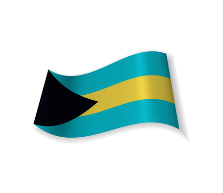 The flag of the Bahamas. Illustration