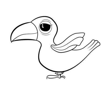 Cartoon bird Toucan.