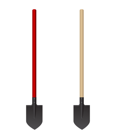Photo realistic shovel on a white background.