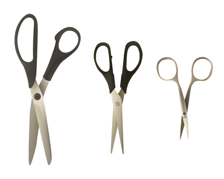 A set of scissors of different types.