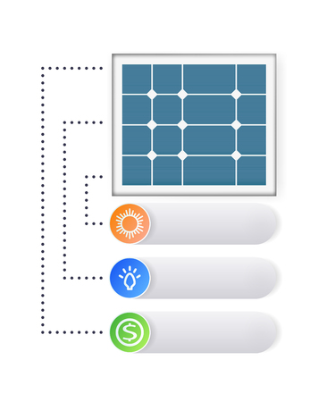 Infographics of the solar panel concept.