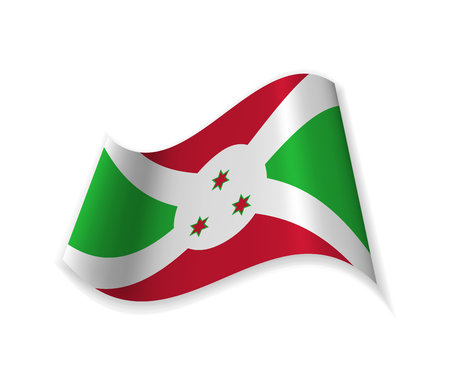 Official Flag Of The Republic Of Burundi.