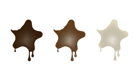 Chocolate desserts in the shape of a star.  イラスト・ベクター素材
