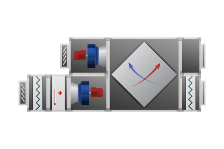 Ventilation system with recuperator for comfort illustration.
