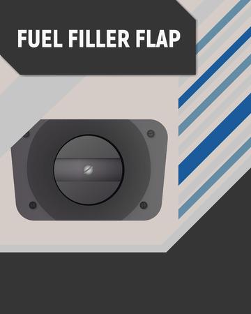 Fuel filler flap vector illustration design. Stock Vector - 100669196