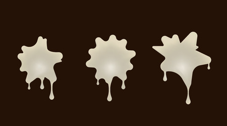 Cookies in the form of blots. White chocolate vector illustration. Collection of different sweets.  イラスト・ベクター素材