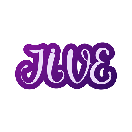 Jive. African American dance. Vector illustration Lettering design Standard-Bild - 100978927