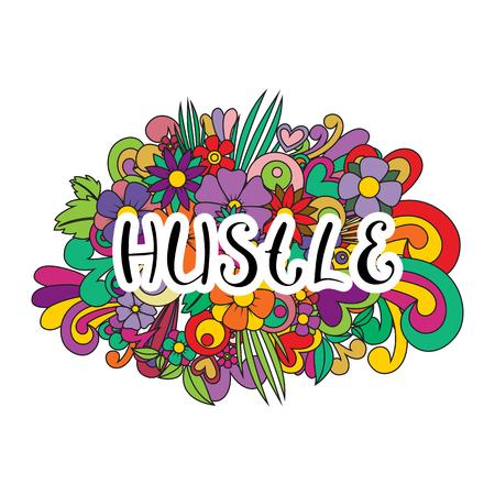 Hustle Tangle pattern background.