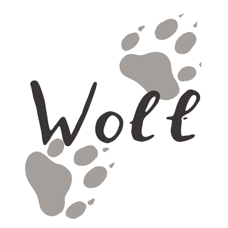 The paw print of a wolf. Standard-Bild - 102167617