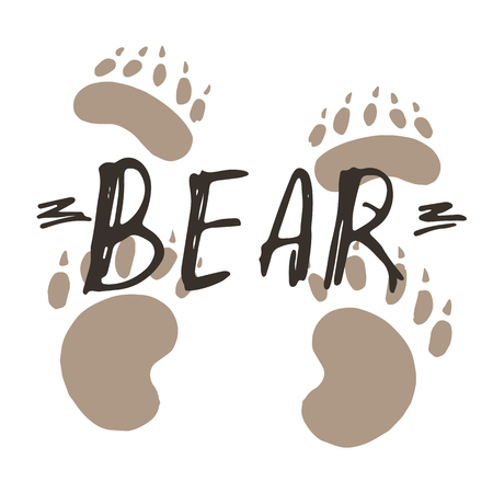 Bear paw print design. Illustration