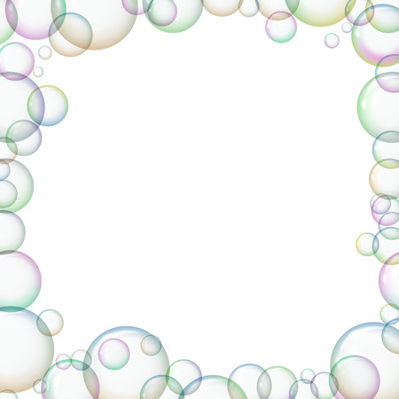 Frame with soap bubbles.