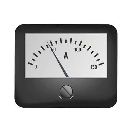 Amperemeter for measuring current.