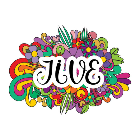 Jive Tangle pattern background. Illustration