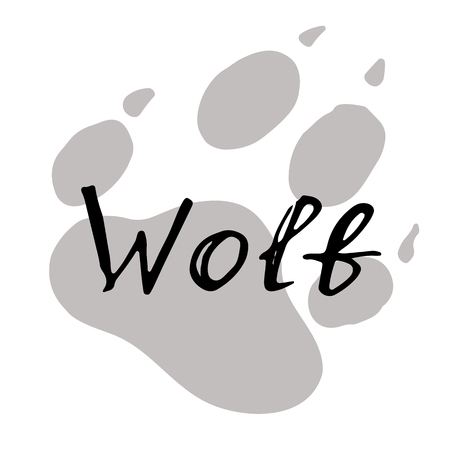 The paw print of a wolf. Standard-Bild - 102796759