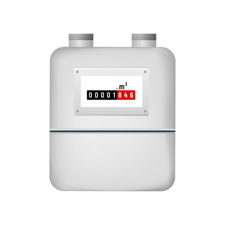 Gas meter. Illustration