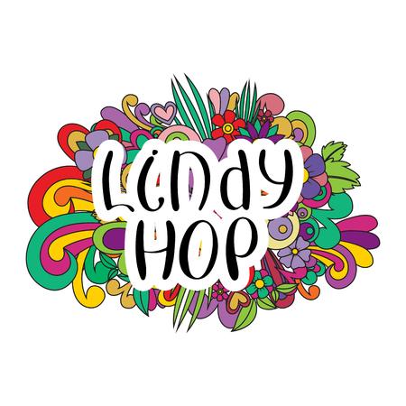 Lindy Hop Tangle pattern background.