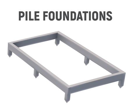 3D image pile foundation.