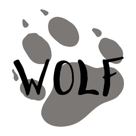 The paw print of a wolf. Standard-Bild - 105221907
