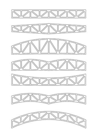 Steel metal trusses.