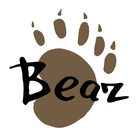 The paw print of a bear.