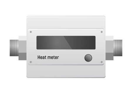 Water heat meter. Illustration