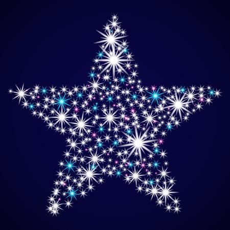 Abstract glitter star. Illustration
