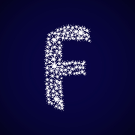 Letter of the alphabet F.