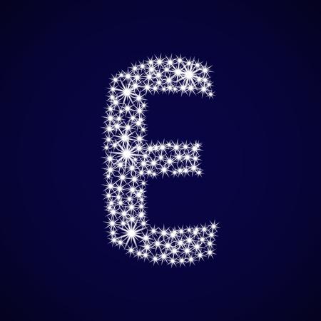 Letter of the alphabet E.