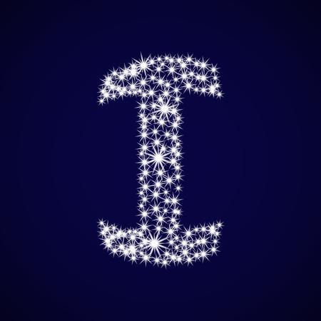 Letter of the alphabet I.