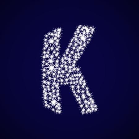 Letter of the alphabet K.