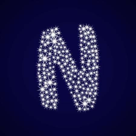 Letter of the alphabet N.