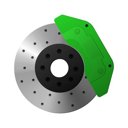 Brake disc, caliper. Ilustração Vetorial