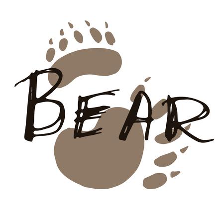 Bear paw print design. Standard-Bild - 104363254