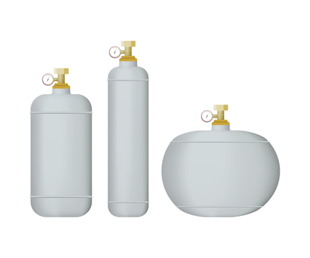Set of white cylinders. Vettoriali