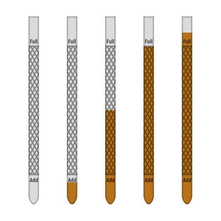 Oil dipstick. Vector illustration. Transport industry. Set of tools Illustration