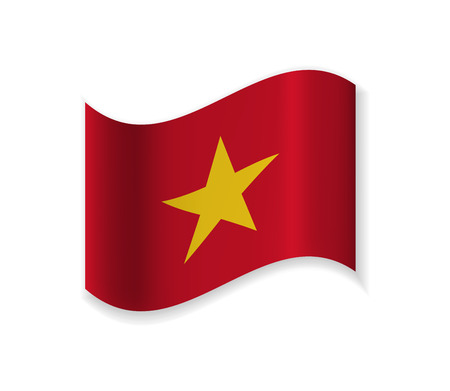 The Official Flag Of Vietnam. Country in South East Asia. Vector illustration of a state symbol. Stock Photo