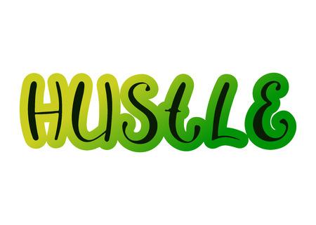 Pair dance hustle. Music Vector illustration. Handwritten calligraphy Standard-Bild - 110480707