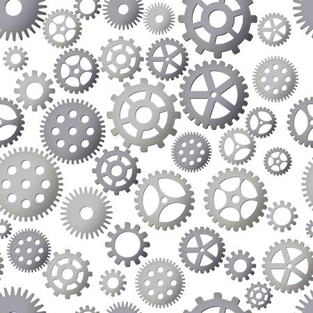 Nahtloser Musterhintergrund mit Gängen. Stahldetails. Vektor-Illustration. Steampunk-Design.